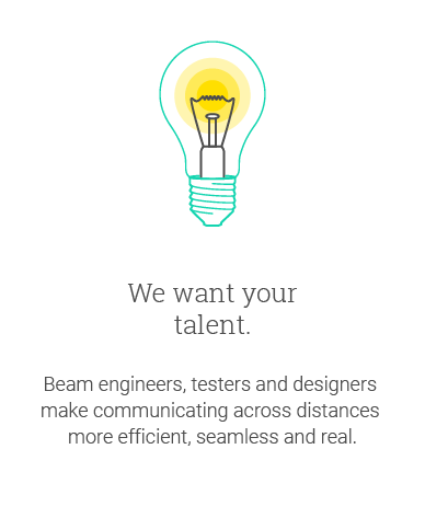 We want your talent.